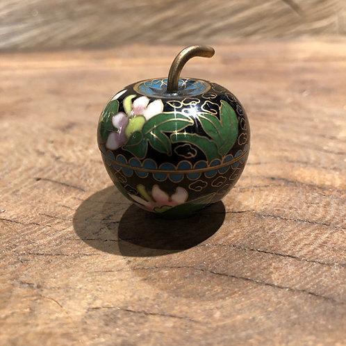 Cloisonné mini doosje. 4x3 cm