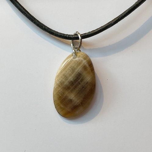 aragoniet bruin hanger steen