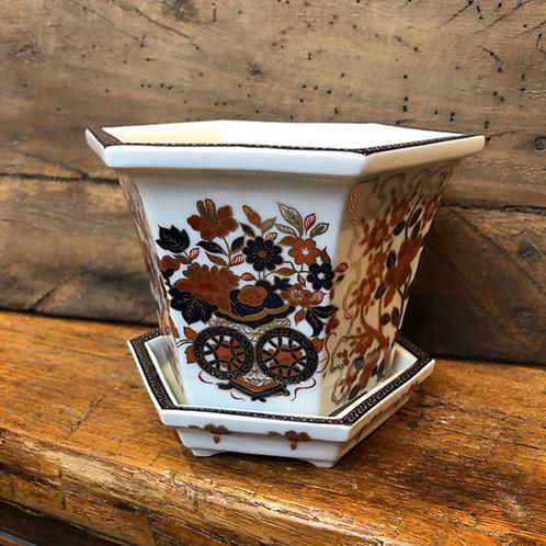 Bloempot Goud kabuki 11 cm uitverkoop sale goud rood