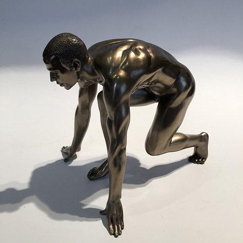 body talk man beeld brons  Eberhardt Asian spirit