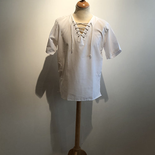 "Shirt met veter ""White"""