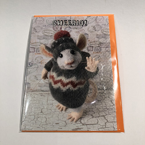 Dubbele kaart met envelop santoro muis muizen