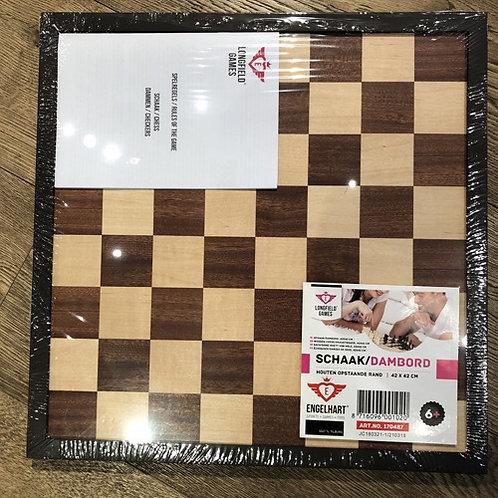 hout schaakbord dambord