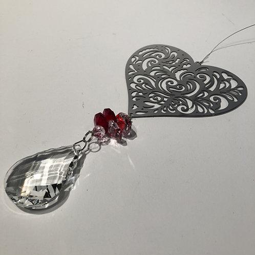 Kristallen Sun-catcher vlinder hart levensboom uil kolibrie ster flower of life