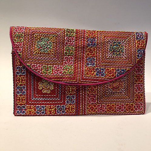 portemonnee geborduurd thailand