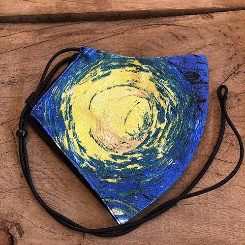"""Mondkapje """"Sterrennacht """"van Gogh"""