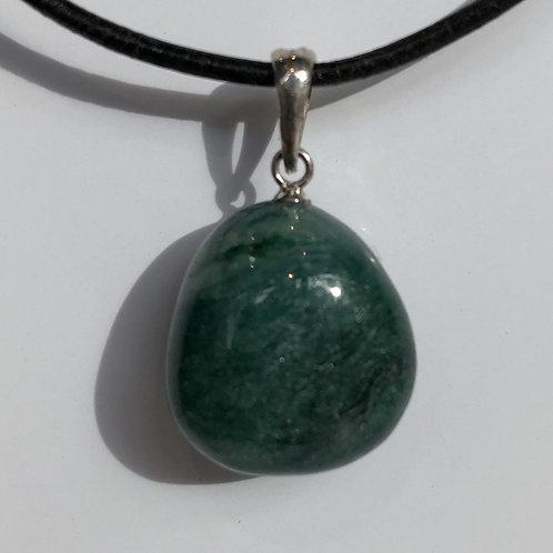 Fuchsiet steen hanger groen