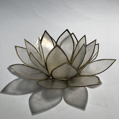 Waxinehouder Lotus Wit