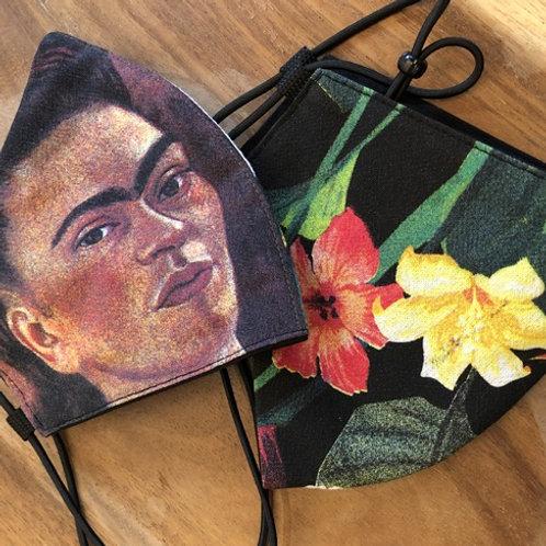 "Mondkapje ""Bloemen"" Frida Kahlo"