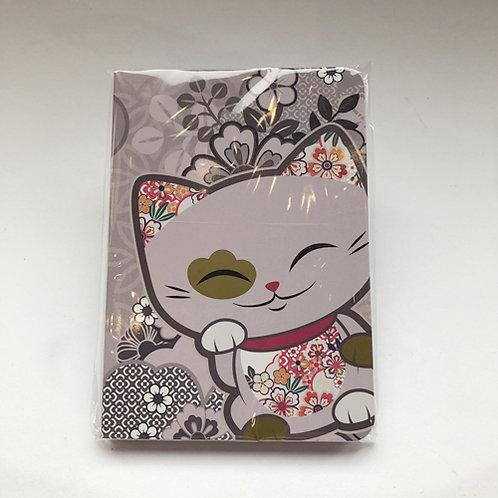 Leuke Aanbieding Mani lucky cat  Notitie boekje lila