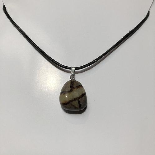 Septarie hanger bruin gestreept steen Eberhardt asian spirit