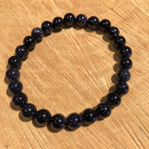 Goudsteen blauw Armband goud steen glitter Eberhardt Asian spirit