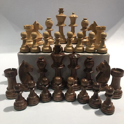 India  Mooie Sheesham (Indian rosewood) schaakstukken aanbieding sale