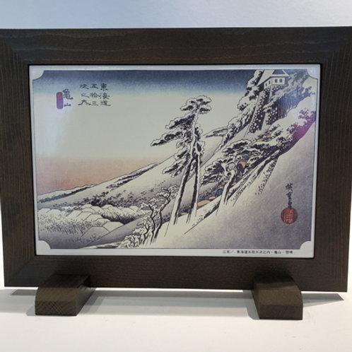Mooiebeschilderde tegelgemaakt in Japan