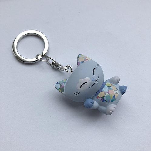 3DMani the Lucky Cat sleutelhangerlicht blauw