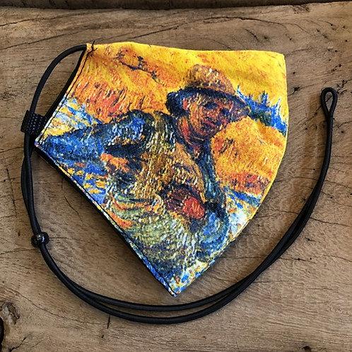 "Mondkapje ""De Zaaier ""van Gogh"