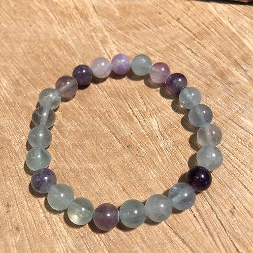 fluoriet armband regenboog paars steen Eberhardt Asian spirit