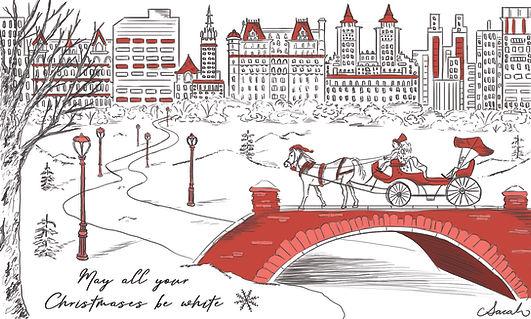 central park holiday card
