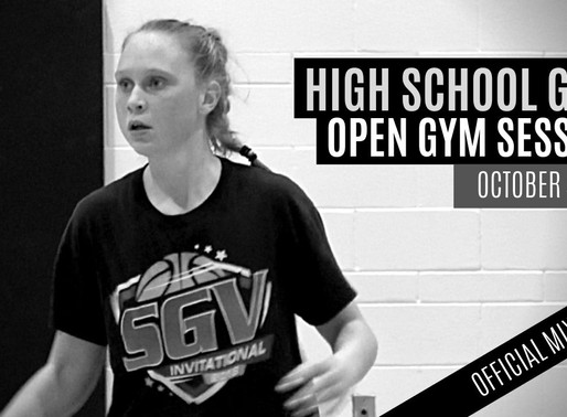 High School Girls INVITE ONLY Open Gym Sessions: October 4, 2019 OFFICIAL MIXTAPE