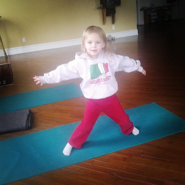 Little Alessa Levee doing Star Pose