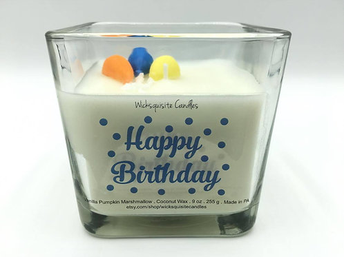Happy Birthday Balloon Candle