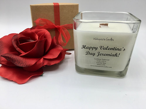 Personalized Valentine Candle