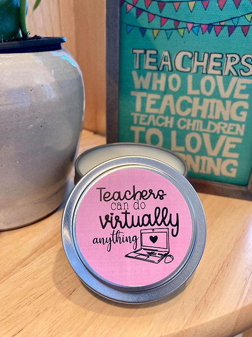 Virtual Teachers Candle Gift