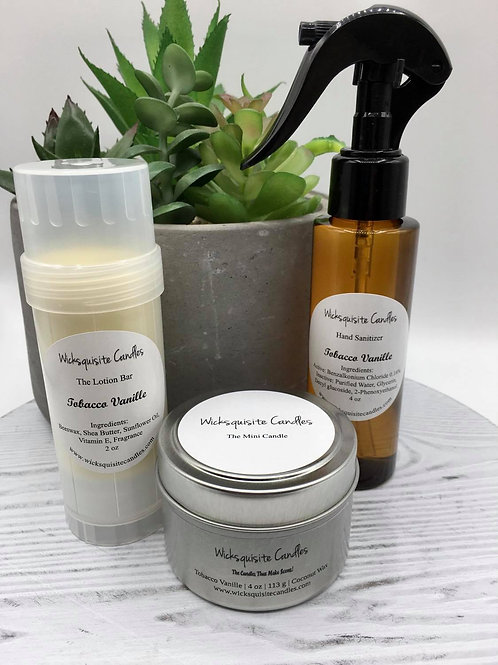 Be Well - Candle, Lotion Bar, Sanitizer