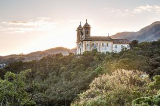 Por do Sol em Ouro Preto
