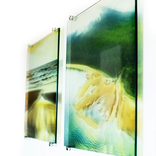Impressão em vidro para residência no litoral
