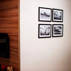 Jogo de quadros emoldurados em papel fotográfico