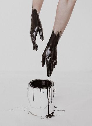 Zingara Zingara Hands Dipped in Black Paint