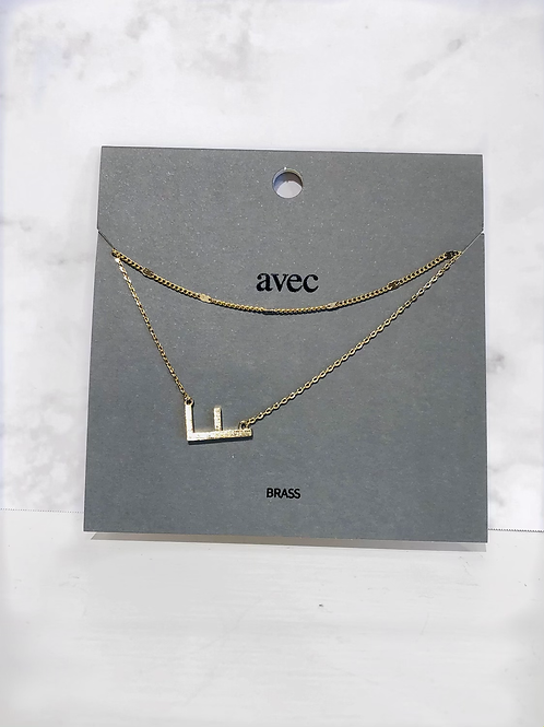 """""""F"""" Initial Necklace"""