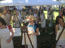 painting at city park