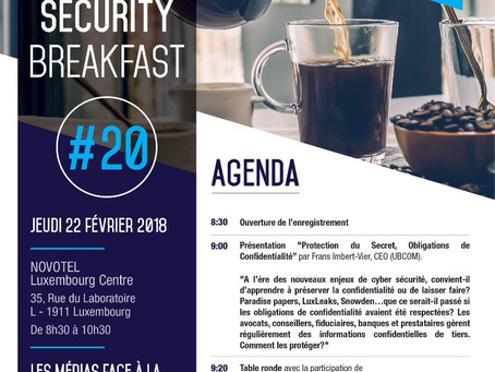 > CYBER SECURITY Breakfast - LUXEMBOURG