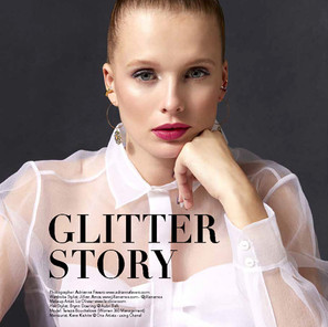 GLITTER MAKEUP FOR REVE BEAUTY MAGAZINE