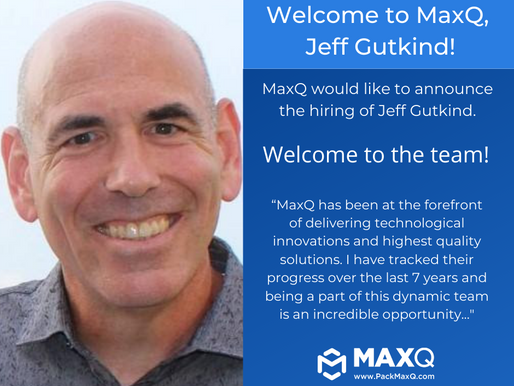 MaxQ Research Welcomes Jeff Gutkind as Director of Sales Life Science Packaging.