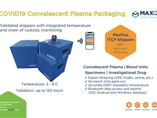 COVID19 Convalescent Plasma Packaging