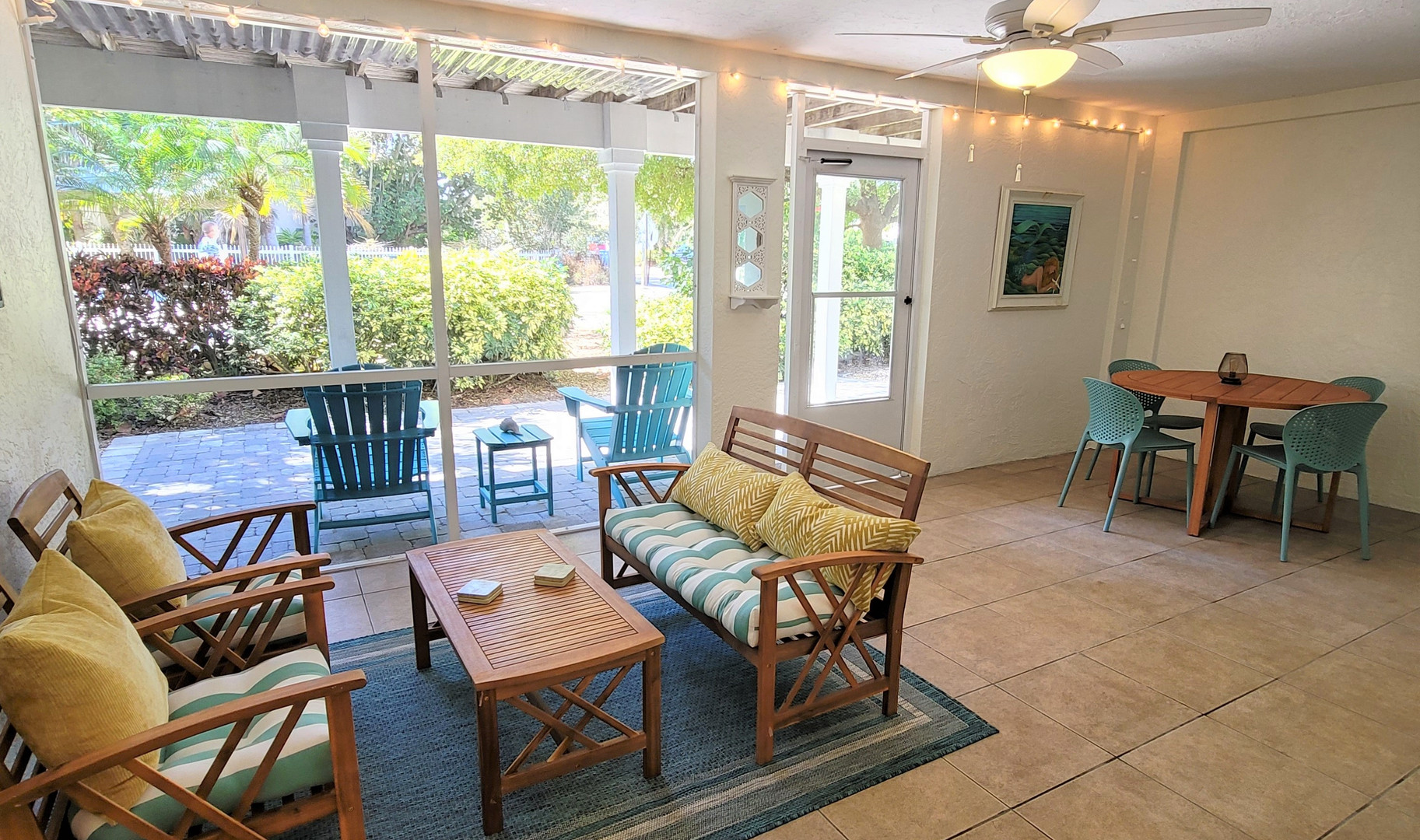 Plenty of seating in the lanai