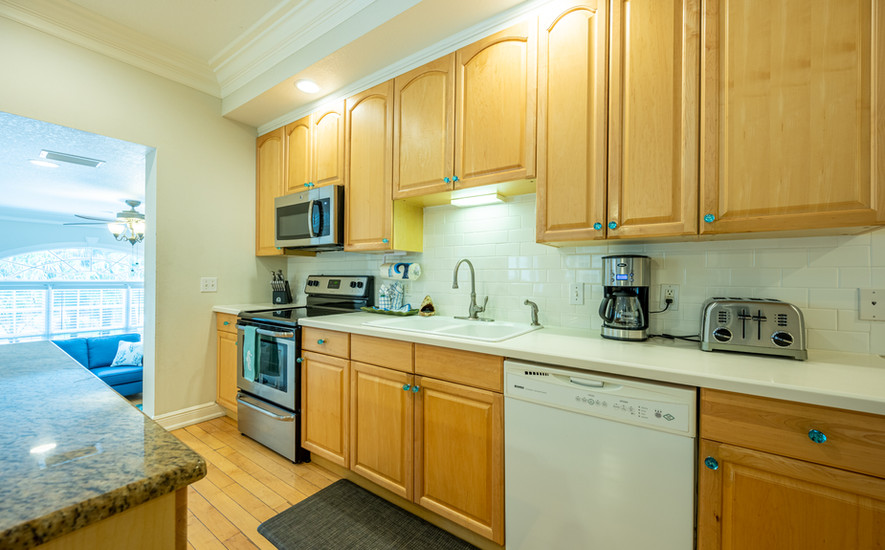 Kitchen with dishwasher and appliances