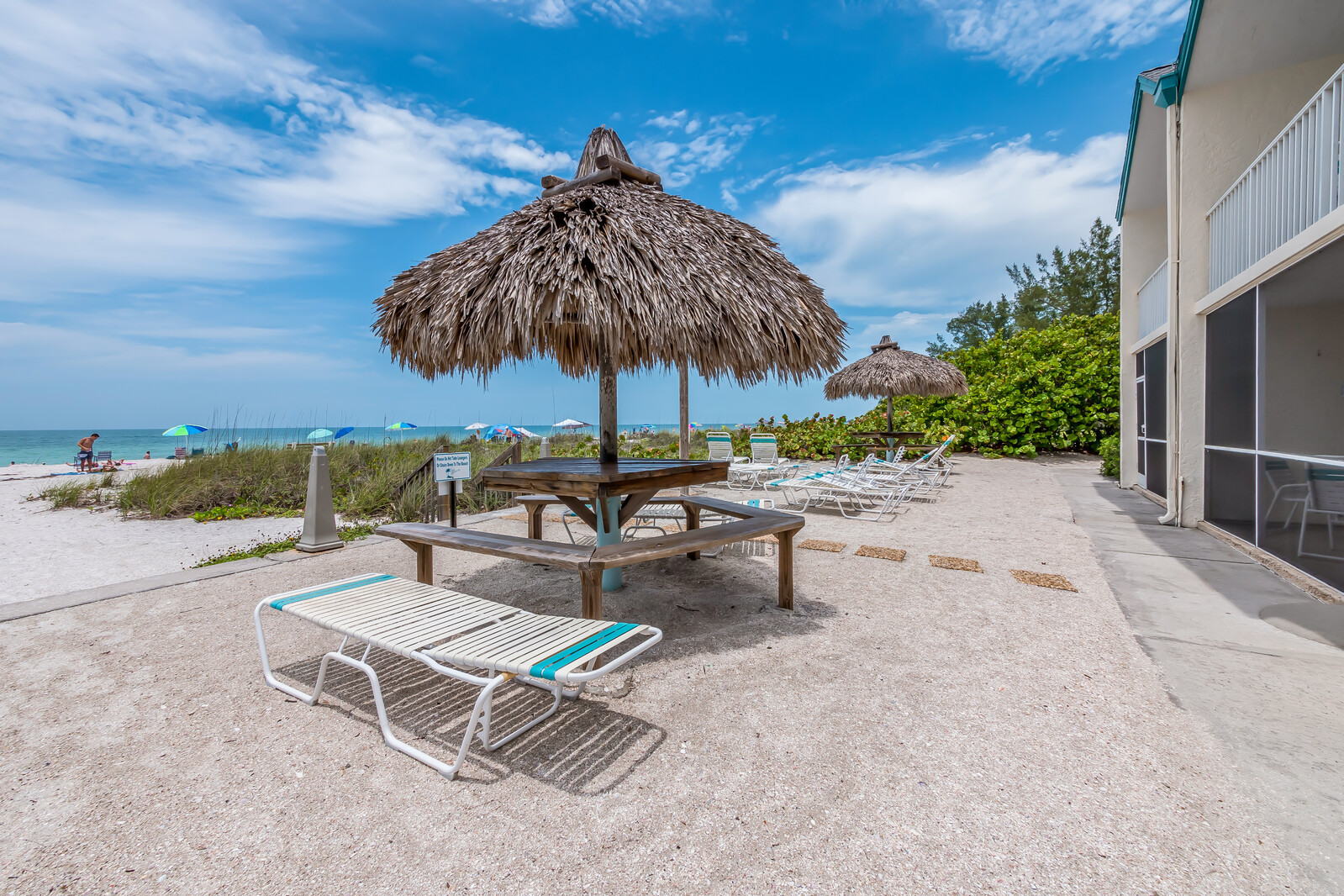 Beach access from room with loungers