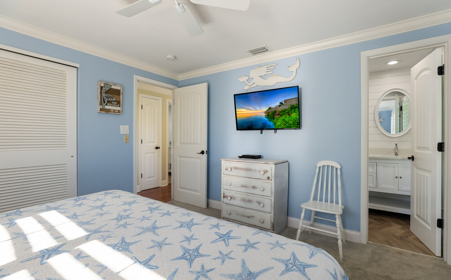 Master Bedroom with TV and Private Bath