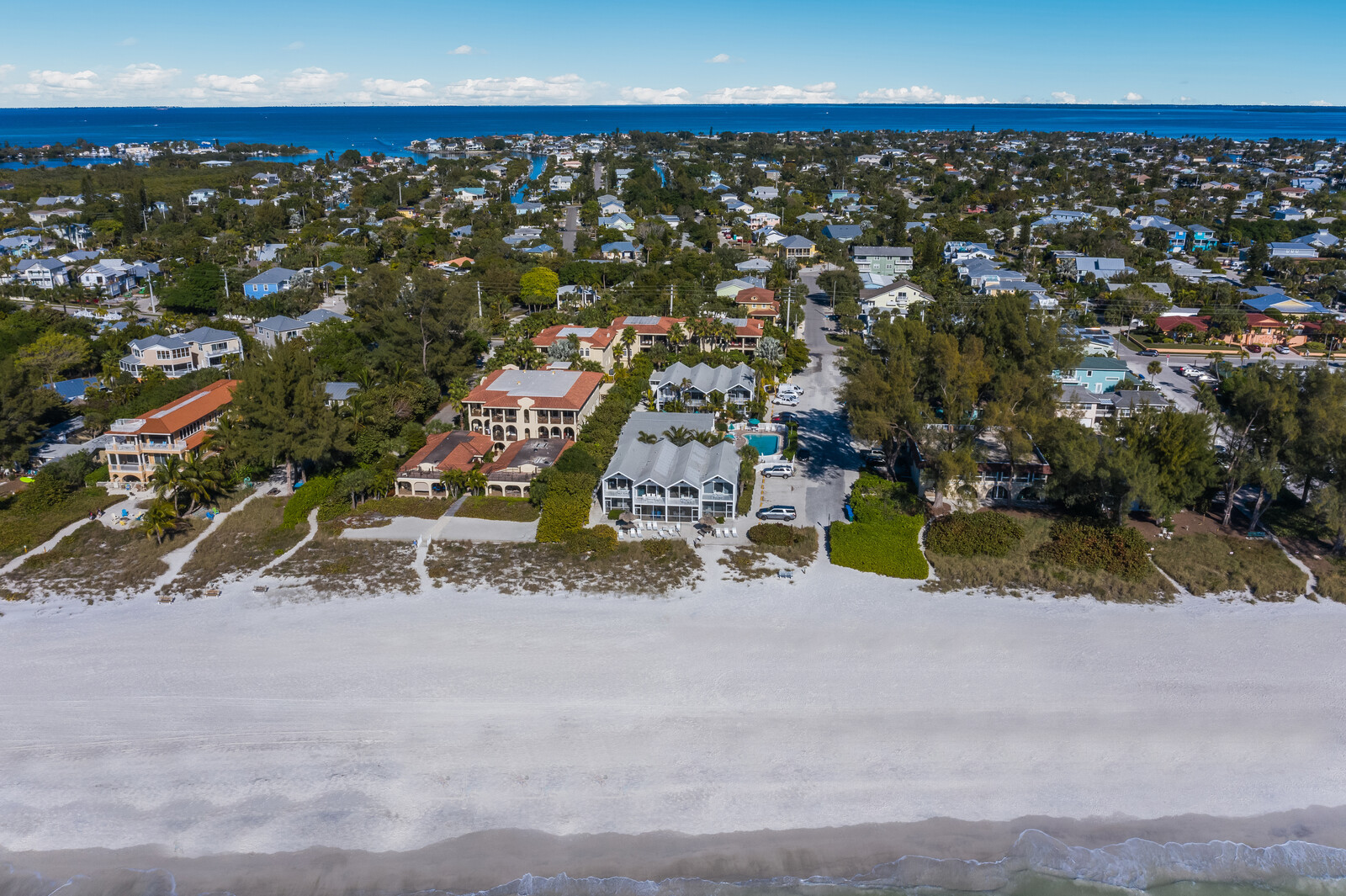 Aerial of 73rd st beach