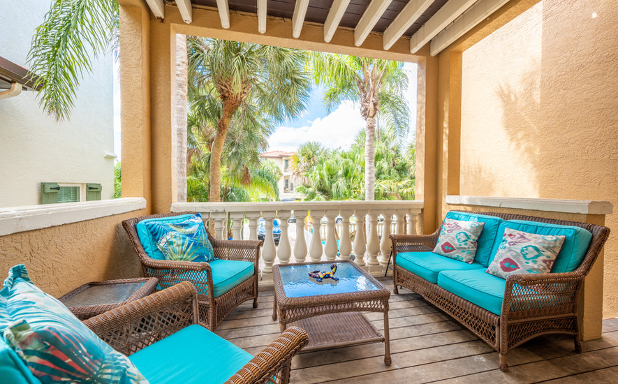 Tropical front terrace
