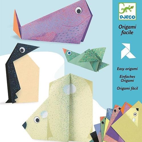 יצירה אוריגאמי - חיות קוטב