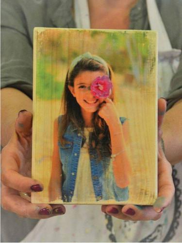 סדנת העברת תמונה על עץ
