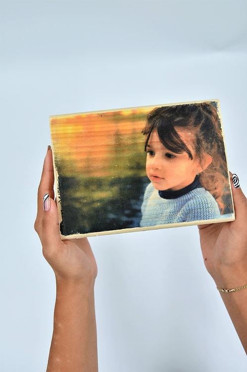 העברת תמונה על עץ - תמונה אישית