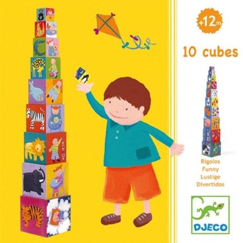 מגדל קוביות - סולם