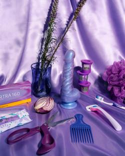 purple still life