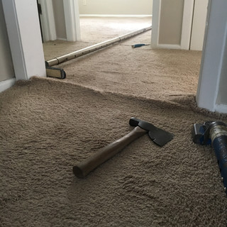 Carpet before restrech